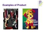 examples of product