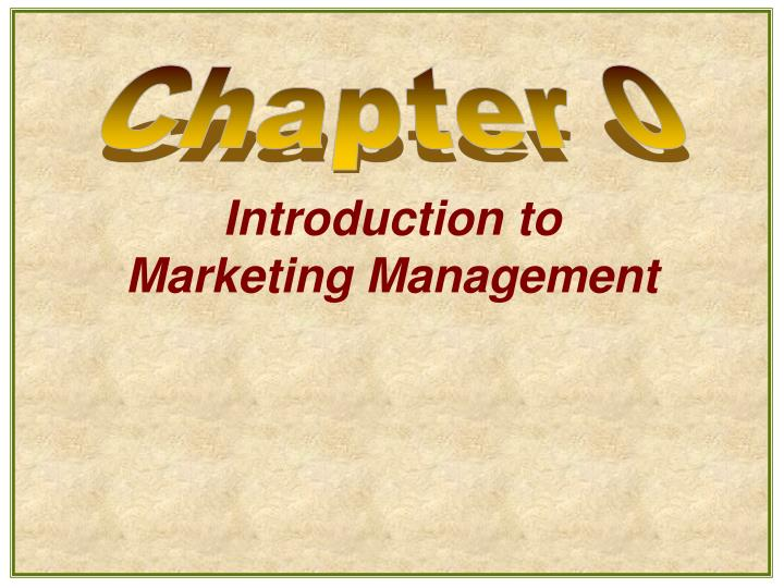 introduction to marketing management n.