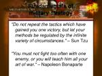 fundamentals of military strategy