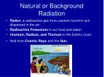 natural or background radiation