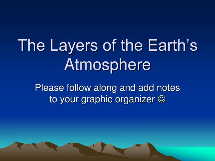 the layers of the earth s atmosphere n.