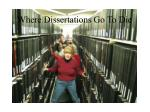 where dissertations go to die
