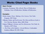 works cited page books