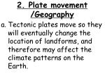 2 plate movement geography