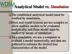 analytical model vs simulation