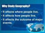 why study geography