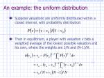 an example the uniform distribution