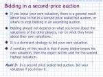 bidding in a second price auction