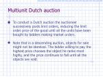 multiunit dutch auction
