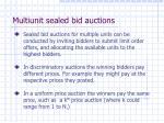 multiunit sealed bid auctions
