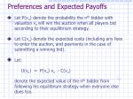 preferences and expected payoffs