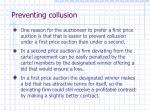 preventing collusion