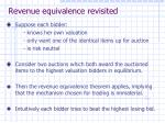 revenue equivalence revisited