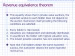 revenue equivalence theorem
