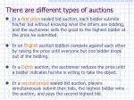 there are different types of auctions