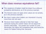 when does revenue equivalence fail