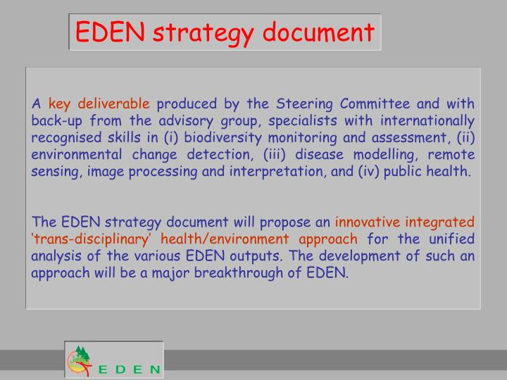 EDEN strategy document