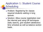 application 1 student course scheduling