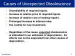 causes of unexpected obsolescence