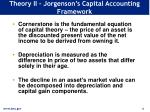 theory ii jorgenson s capital accounting framework