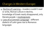 changes in western europe1