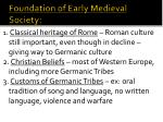foundation of early medieval society