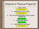 chemical or physical property