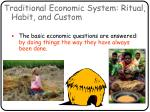 traditional economic system ritual habit and custom