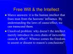 free will the intellect