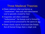 three medieval theories