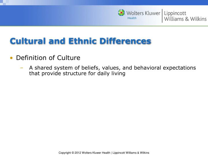 Cultural and Ethnic Differences