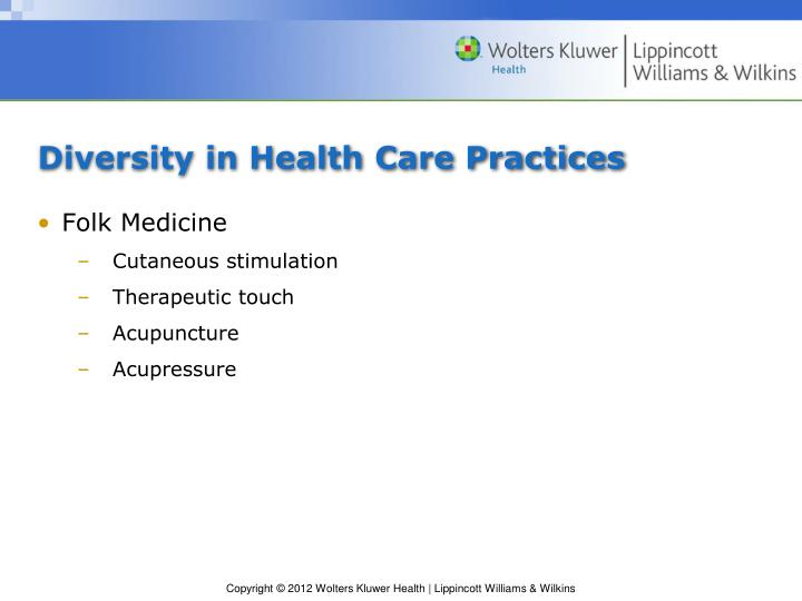 Diversity in Health Care Practices