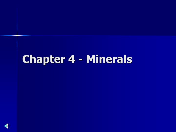 chapter 4 minerals n.