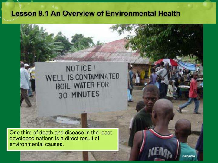 Lesson 9 1 an overview of environmental health