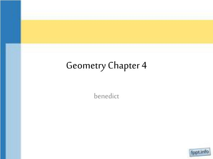 Geometry chapter 4