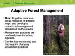 adaptive forest management