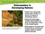 deforestation in developing nations