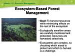 ecosystem based forest management