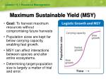 maximum sustainable yield msy