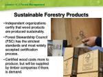sustainable forestry products