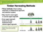 timber harvesting methods