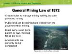 general mining law of 1872