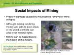 social impacts of mining