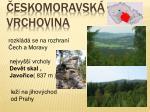 eskomoravsk vrchovina