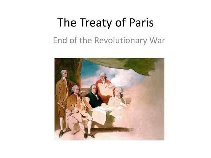 the treaty of paris n.