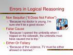 errors in logical reasoning