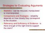 strategies for evaluating arguments1