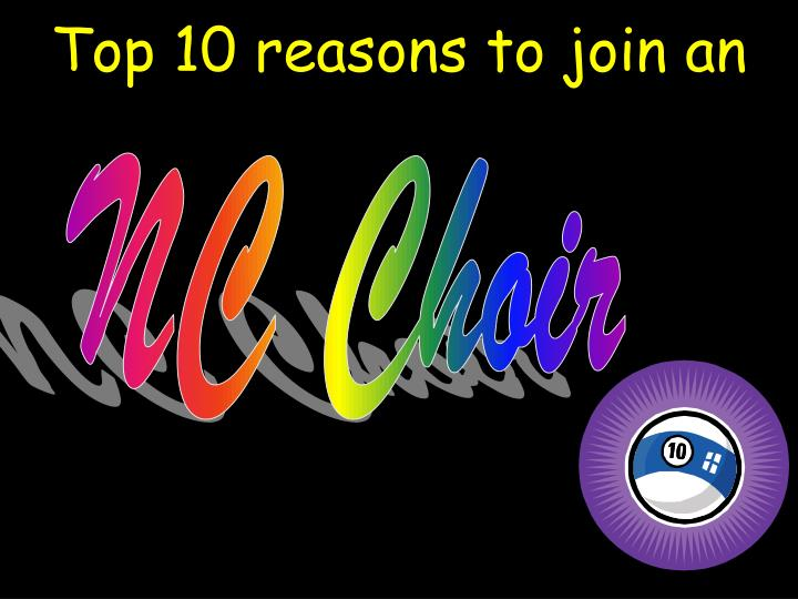 top 10 reasons to join an n.