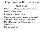 importance of biodiversity to humans