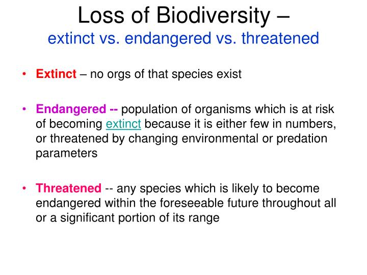 the loss of biodiversity and its Any solution to the loss of biodiversity must take multiple factors into account in many of these areas, day-to-day survival is an issue.